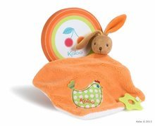 Plišasti zajček za crkljanje Colors-Doudou Rabbit Chick Kaloo z grizalom 24 cm v darilni embalaži za najmlajše