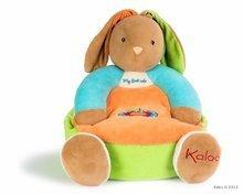 KALOO 963271 plyšové kreslo zajačik COLORS-MAXI SOFA RABBIT 45 cm z jemného mäkkého plyšu