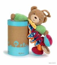 Plyšový medvídek Colors-Zig Music Bear Kaloo zpívající natahující 25-40 cm v dárkovém balení pro nejmenší