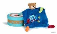 Plyšový medvídek na mazlení Colors-Doudou Bear Good Night Owl Kaloo s kousátkem 20 cm v dárkovém balení pro nejmenší