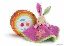 Plyšový králíček na mazlení Colors-Round Doudou Rabbit Flower Kaloo v sukýnce 18 cm v dárkovém balení pro nejmenší