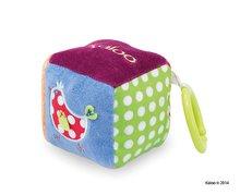 Hrkálky a hryzátka - Plyšová kocka Colors-Activity Cube Kaloo s hrkálkou a zrkadlom 13 cm pre najmenších_0