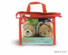 Dojčenské súpravy - Plyšové papučky Colors-Bear Rabbit Booties Kaloo s hrkálkou 10 cm v darčekovom balení pre najmenších_0
