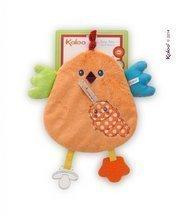 Plüss kiscsibe rágókával Colors-My Sweet Doudou Chick Kaloo 25 cm legkisebbeknek