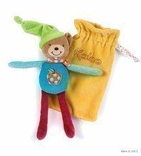 Plišast medvedek igračka za crkljanje Colors-Baby Doudou Pocket Kaloo v vrečki 20 cm za najmlajše