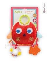 Hrkálky a hryzátka - Textilná sovička Colors-My Comforting Owl Kaloo s hrkálkou a hryzátkom 25 cm pre najmenších_0