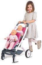 Set detský kočík pre dve bábiky 2v1 retro Maxi Cosi & Quinny Smoby (rúčka 65,5 cm) a autosedačka