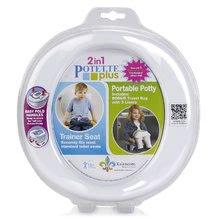 Cestovný nočník/redukcia na WC Potette Plus bielo-šedý od 15 mesiacov LIP100625
