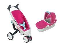 Kočíky pre bábiky sety - Set kočík pre bábiku Maxi Cosi & Quinny 3v1 Smoby (70 cm rúčka), autosedačka Maxi Cosi & Quinny a vanička Baby Nurse_8