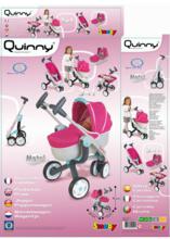 Kočíky pre bábiky sety - Set kočík pre bábiku Maxi Cosi & Quinny 3v1 Smoby (70 cm rúčka), autosedačka Maxi Cosi & Quinny a vanička Baby Nurse_11