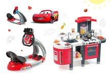 Set kuchynka pre deti Tefal SuperChef Smoby s grilom a kávovarom a elektronický trenažér Autá Ice V8 Driver