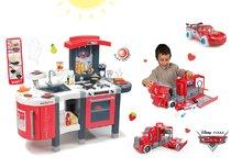 SMOBY 311300-9 piros gyerekkonyha Tefal Superchef hangeffektekkel jéggel grillel és elektronikus kamion és játékautó Cars Ice