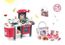 SMOBY 311300-7 piros gyerekkonyha Tefal Superchef hangeffektekkel jéggel grillel és reggeliző szett Hello Kitty táskában