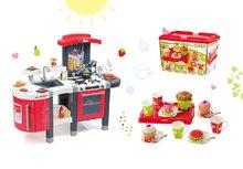 Kuchynky pre deti sety - Set kuchynka Tefal SuperChef Smoby s grilom a kávovarom a čajová súprava 100% Chef_25