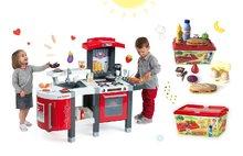 Set detská kuchynka Tefal SuperChef Smoby s grilom a kávovarom a set hamburgerov 100% Chef