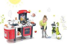 Set detská kuchynka Tefal SuperChef Smoby s grilom a kávovarom a upratovací vozík Clean Service