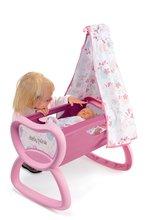 Domčeky pre bábiky sety - Set prebaľovací stôl pre bábiku Baby Nurse Srdiečko Smoby kolíska s baldachýnom a bábika v dupačkách 32 cm_6