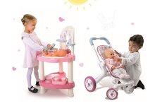 Set prebaľovací stôl pre bábiku Baby Nurse Srdiečko Smoby a športový kočík (53,5 cm rúčka)