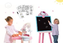 Set prebaľovací stôl pre bábiku Baby Nurse Srdiečko Smoby a obojstranná tabuľa Hello Kitty s doplnkami