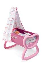 Domčeky pre bábiky sety - Set prebaľovací stôl pre bábiku Baby Nurse Srdiečko Smoby kolíska s baldachýnom a bábika v dupačkách 32 cm_1