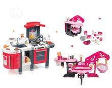 Set detská kuchynka Tefal SuperChef Smoby s grilom a domček pre bábiku Baby Nurse Zlatá edícia