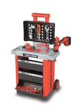 Staré položky - Pracovní vozík Black&Decker Smoby s mechanickou vrtačkou a 20 doplňky_0