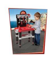 Staré položky - Pracovný stôl Autá Smoby s mechanickou vŕtačkou, autom a 80 doplnkami_2