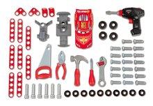 Staré položky - Pracovný stôl Autá Smoby s mechanickou vŕtačkou, autom a 80 doplnkami_3