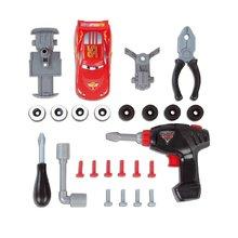 Pracovní dětská dílna - Pracovní stůl Auta Smoby s mechanickou vrtačkou, autíčkem McQueen a 20 doplňky_1