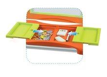 Staré položky - Školní magnetická tabule Smoby oboustranná, polohovatelná s kovovou konstrukcí a 61 doplňky oranžovo-zelená_4