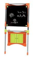Staré položky - Školní magnetická tabule Smoby oboustranná, polohovatelná s kovovou konstrukcí a 61 doplňky oranžovo-zelená_5