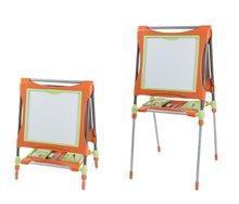 Staré položky - Školní magnetická tabule Smoby oboustranná, polohovatelná s kovovou konstrukcí a 61 doplňky oranžovo-zelená_6
