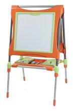 Staré položky - Školní magnetická tabule Smoby oboustranná, polohovatelná s kovovou konstrukcí a 61 doplňky oranžovo-zelená_7