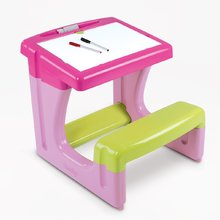 SMOBY 28061 Kispad írásra és rajzolásra, tároló résszel, rózsaszín, kétoldalú, 8 kiegészítővel, 55*58*54 cm