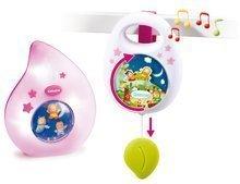Hračky pre bábätká - Sada do postieľky Smoby nočné svetlo a hudobná skrinka pre najmenších modrá/ružová_0