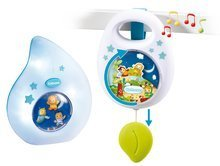 Hračky pre bábätká - Sada do postieľky Smoby nočné svetlo a hudobná skrinka pre najmenších modrá/ružová_2