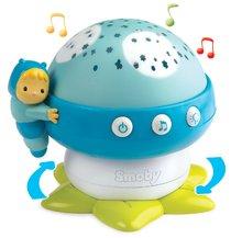 Světelný projektor Hřib Cotoons Smoby s hudbou pro miminka modrý