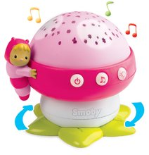 Světelný projektor Hřib Cotoons Smoby s hudbou pro miminka růžový