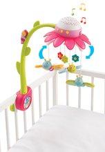 Gyerek kiságyforgó Flower Cotoons Smoby pillangókkal, hanggal és fénnyel legkisebbeknek rózsaszín