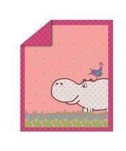 Detsky paplón Sateen Hippo toT's-smarTrike ružový s hrochom 100% bavlna satén, náplň 100% polyester 100*120 cm TO110202