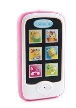 Smartphone Cotoons Smoby cu funcţii de redare roz de la 6 luni