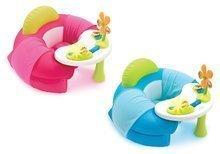 Fotel gonflabil Cosy Seat Cotoons Smoby cu masă educativă roz/albastru de la 6 luni