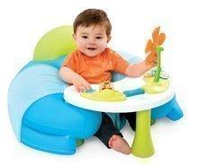 Fotoliu gonflabil cu măsuţă educativă Cotoons Smoby albastru de la 6 luni