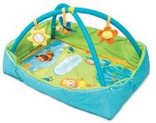 Hrazdičky a hrací deky - Hrací deka Cotoons Discovery Smoby s hrazdou, hnízdem, chrastítky a rybníkem pro nejmenší modrá_0