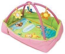 Hrazdičky a hrací deky - Hrací deka Cotoons Discovery Smoby s hrazdou, hnízdem, chrastítky a rybníkem pro nejmenší růžová_0