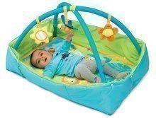 Hrazdičky a hrací deky - Hrací deka Cotoons Discovery Smoby s hrazdou, hnízdem, chrastítky a rybníkem pro nejmenší modrá_1