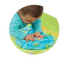 Hrazdičky a hrací deky - Hrací deka Cotoons Discovery Smoby s hrazdou, hnízdem, chrastítky a rybníkem pro nejmenší modrá_2
