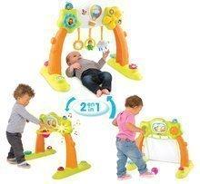 Bară de joacă pentru bebeluși 2in1 Arch Cotoons Smoby cu fotbal, panou de baschet de la 3 luni