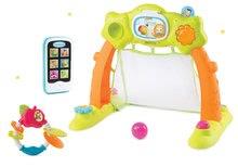 Szett bébitornázó Arch Cotoons Smoby 2in1 elektronikus és rágóka Alma és mobiltelefon kék