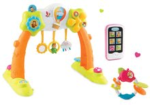 Szett bébitornázó Arch Cotoons Smoby 2in1 elektronikus és rágóka Alma és mobiltelefon rózsaszín